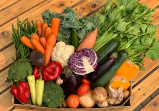 Fruit Box, Couple Vegetable Box or Family Organic Vegetable Box